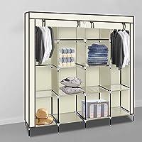 Alightup Armoire Chambre Armoire de Rangement Dressing Chambre Penderie Tissu Garde Robe Portable pour Chambre D'adulte…