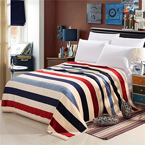 ysayc Flanell Bett Decke Blatt Mikrofaser Snuggle Couch Cozy Warm Glatte Hochzeit Geburtstag Geschenk Decke, C, 200*230cm