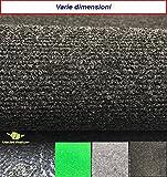 Moquette tappeto, resistente| dimensioni e colori tra cui scegliere |Tappeto di feltro, feltro tessuto non tessuto, in vendita al metro | per pavimenti in ambienti esterno (900 x 200 cm, Antracite)