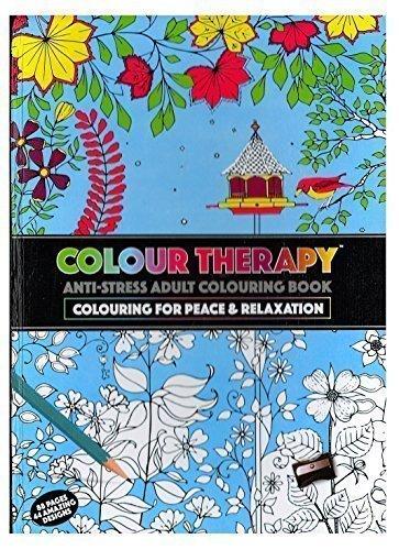 Erwachsene A4 Farbe Therapie Antistress Muster Färbung Fester Einband Buch 384036 (Muster Bücher Färbung)