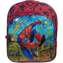3D Spiderman Doraemon Dorimon Red And Black Children's / kid's Backpack, school bag for class / standard Pre Nursery, Nursery, KG, UKG, LKG class for boys & girls 8 Liter, 14 Inch. For children ages 2 to 5 years