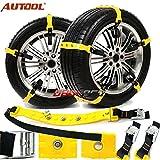 Autool 10pcs / set Chaîne antidérapante de pneu de neige de voiture Chaînes de TPU de tendon de boeuf épaissies (M(185-225mm Trie Width))...