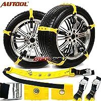 Description:  1.Car Chaînes de pneus de neige pour la neige, la boue ou le sable  2.Ces chaînes de pneus peuvent être facilement adaptées à la plupart des tailles standard d'alliages ou de roues en acier sur les voitures, les fourgonnettes e...