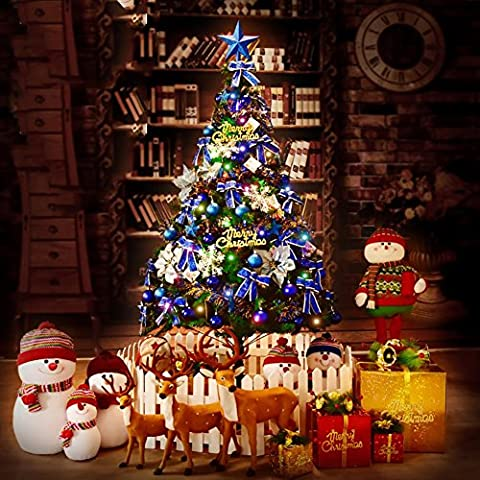 Künstlicher Weihnachtsbaum Kiefer 1,5 M mit soliden Metallspitzen Beine voll Baum enthält dekorative und leuchtet (Schuhkarton-geschenke Für Weihnachten)