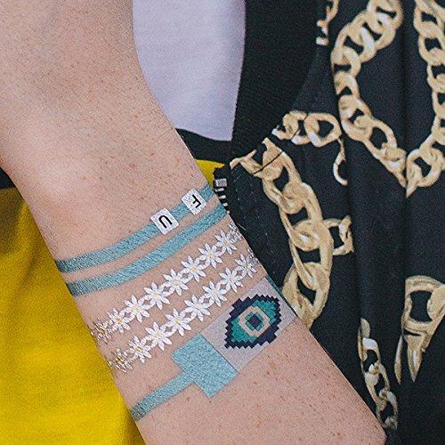 tattify-tatouages-temporaires-smiley-visage-breloque-bracelet-restez-bizarres-feuille-1-set-de-1-feu