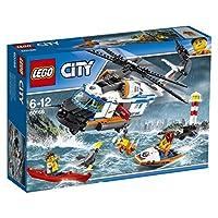 Lego 60166Decolla per un altro emozionante salvataggio con la Guardia costiera di LEGO® City! Recati al faro: il canoista ha perso la pagaia! Abbassa la rampa dell'elicottero e lancia il jet ski per recuperarla, quindi abbassa il verricello per salva...