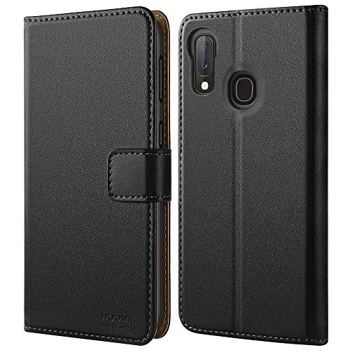 HOOMIL Handyhülle für Samsung Galaxy A20e Hülle, Premium PU Leder Flip Schutzhülle für Samsung Galaxy A20e Tasche, Schwarz -