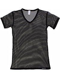 d5178dd1151d7 iiniim Atractivo Hombre Chaleco Camiseta de Manga Corta Camiseta  Transparente Chaleco Camisa de Malla para Los