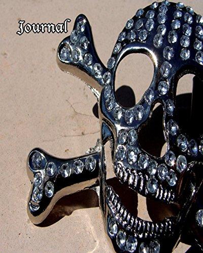 Journal: 8 x 10 Bling Pirate Skull Treasure 126 Page Lined Skull Bling