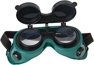 Generic STK0114007972 Green Flip Up Lens Eye Glasses Welding Goggles