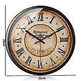 Flashing- Retro Nostalgie Runde Metall Mute Wanduhr, Schlafzimmer Restaurant Wohnzimmer Uhr Uhr Wand Anhänger ( Farbe : #1 , größe : 35*35cm )