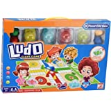 Ludo Board Game in Foldable Giant Waterproof Mat Carpet | Portable with Automatic Dice Tumbler Boggle | Size 130 x 93 cm 3+ y