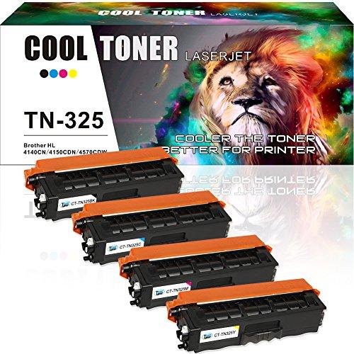 Cool Toner Kompatibel Refill Toner TN325 TN320 Mit Chip für Brother HL-4140CN HL-4140 HL-4150 HL-4150CDN HL-4570 HL-4570CDW HL-4570CDWT, MFC-9460CDN MFC-9465CDN MFC-9560CDW MFC-9970CDW DCP-9055CDN DCP-9270CDN Drucker (Brother Mfc 9970-toner)