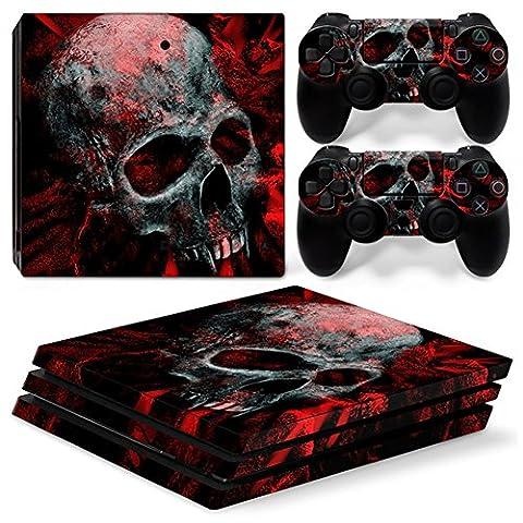 Stillshine PS4 Pro Vinyl Skin Decal Autocollant Sticker pour Playstation 4 Pro console & 2 Dualshock Manette Set (Skull