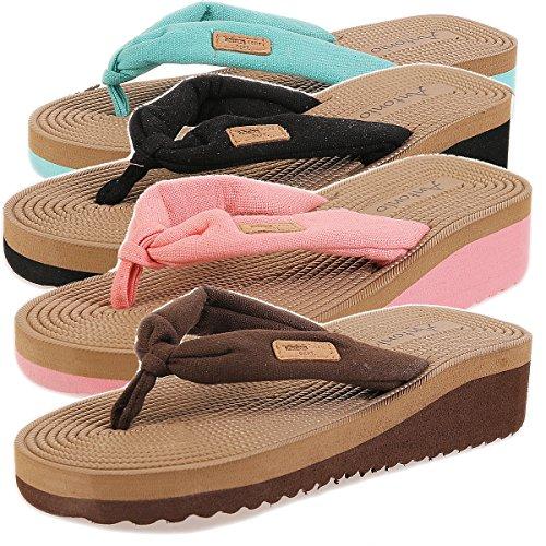 Donna Pantofole da Bagno Sandali Pantofole Pantofola CL 8899 Nero