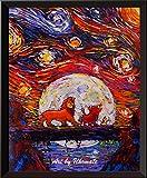 uhomate der König der Löwen Simba Lion King Poster Vincent Van Gogh Starry Night Poster Home auf Leinwand, Jahrestag Geschenke Baby Kinderzimmer Decor Wohnzimmer Wanddekoration A024, 8x10 inch
