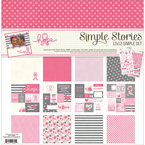 Unbekannt Simple Stories einfach Sets Collection Kit 12 Zoll x 12-inch-Hope 2048 Kit