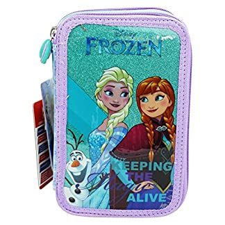 Disney Frozen Estuche Escolar Làpices de colores Plumier triple