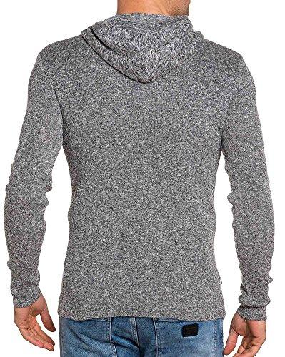BLZ jeans - feinen weißen Hoodie und Kragenknöpfe Weiß