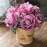 XPHOPOQ flores artificiales home comedor cocina tabla Decoración interiorjardín Parte navidad Regalos Morado Rosa