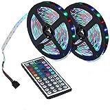 Strisce Luminose LED 32,8 Piedi, Striscia Luminosa LED RGB, Con Telecomando a 44 Tasti, Per Camera Da Letto, Decorazioni Per