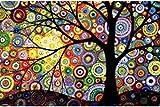 kit mosaico arbol de la vida cuentas de cristal puzzle cristales multicolor para manualidades, regalos, cuadros, relax, terapias relajantes. antistress regalo de 60 x 40 cm. de OPEN BUY