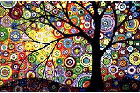 Kit mosaïque Arbre de la vie compte de cristal puzzle cristal multicolore pour travaux manuels, cadeaux, tableaux, Relax, psychothérapie relajantes. antistress cadeau de 60x 40cm de Open Buy