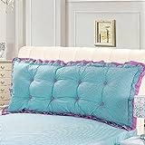 DULPLAY Baumwolle Lese kissen,Große Dreieckige sofa Bett wieder kissen Support für rückenlehne kissen positionierung Mit abnehmbarem deckel-A 170x52cm(67x20inch)