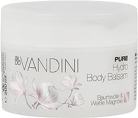aldoVANDINI PURE Hydro Body Balsam Baumwolle & Weiße Magnolie  - vegan & parabenfrei, 1er  Pack (1 x  200 ml)