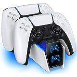 OIVO Chargeur Manette PS5, 2H Rapide Chargeur ps5 avec 2 Types de Câble pour Manette PS5, Station de Chargement Compatible av