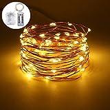 KOBWA Fairy String Lichter, 3ft 100 Mini-LEDs Kupferdraht Batterie betrieben Lichterketten mit Fernbedienung und Timing-Funktion für Weihnachten Geburtstag Hochzeit Terrasse Feier und Dekoration