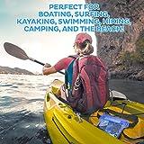 (2 Pack) Wasserdichte Tasche Beutel Handyhülle für Taille oder Schulter ideal zum Segeln, Wandern, Schwimmen, Angeln – sicherste Weg, Ihre Produkte trocken – 100% Garantie auf Lebenszeit - 6