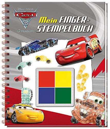Disney Pixar Cars 3 Mein Fingerstempelbuch: Mit vier tollen Fingerfarben