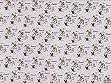 Swafing Jersey Stoff, Bambi,Stoff zum Schneidern und für Kinder-Kleidung,95 % Baumwolle, 5 % Elasthan, Verkauf pro 0,5m, 50cm x 150cm SWAJ29 Bambi Thumper Lavender Grey