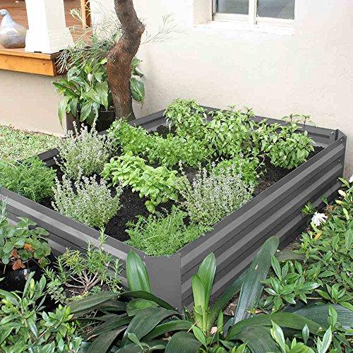 Siena Garden Hochbeet, ohne Boden, 120x90x30cm, grau, 557075
