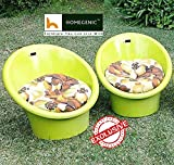 #1: National Tub Chair with Cushion Set of 02 (Yellow) By Homegenic