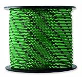 Chapuis MO325V Drizza poliestere - 200 kg - Diametro 3 mm - Lunghezza 25 m - Nero/verde
