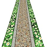 QiangDa Flur Teppich Läufer Langflor Teppiche Lang Blumenmuster Waschbar Polypropylen Sanfte Berührung Vliesboden Anti-Rutsch Kein Geruch, Dicke 6 Mm (Farbe : 2#, größe : 1m x 3m)