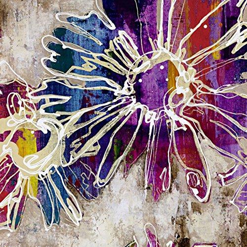 Artland Qualitätsbilder I Premium Poster auf Holzplatte - Bild Größe 59 x 59 cm - Floraler Kick I Blumen Bunt D1HW