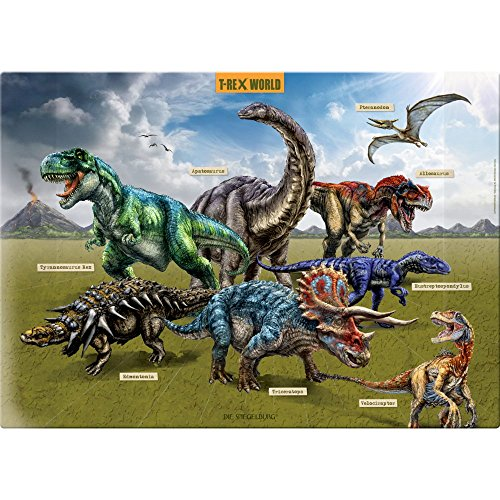 Spiegelburg 14566 Vade Protector Escritorio Infantil Dinosaurios T-Rex World 53 x 38 cm