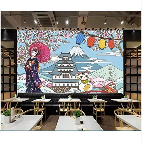 Hintergrundbild 3D Fototapete Benutzerdefinierten Wandbild Japanischen Kimono Schönheit Restaurant Sushi Wohnzimmer Wand 3D Wandbilder Wallpaper Für Wände,450X300Cm - Kimono Wand