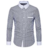VECDY Herren Pullover, Räumungsverkauf Fashion Slim Shirt Langarm Freizeithemd V-Ausschnitt Sweatshirt Freizeit Oberteil Solide T-Shirt