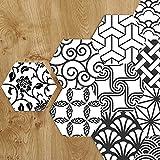 APSOONSELL Stickers Muraux Hexagonal Décoration Murale Mosaique Autocollante pour Salle de Bain et Cuisine Longueur: 11.5cm diamètre: 23cm(10pièce par pack)