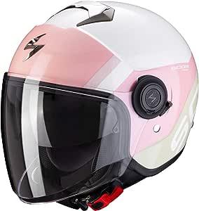 Scorpion Exo City Sympa Motorcycle Helmet White Coral Green Pink White L Auto