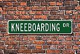 Divertido Letrero de Metal para Kneeboard Kneeboarding, Regalo de Ventilador para esquí, Deportes, Garaje, Jardín, Valla de Conducción, Decoración de Calle