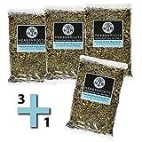 3+1 gratis LUNGEN-TEE-MISCHUNG - Freier Atem Tee heiß genießen - wohltuend - kann Schleim lösend, Abhusten erleichternd und Hustenreiz lindernd wirken- ähnlich Schwedenkräuter (1 Packung à 210g)