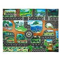 Haodene Kids Dinosaur World City Cars play mat for 3-14 ans Children Toy Game , 83*57CM