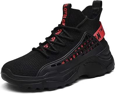Moda Uomo Sneaker a Collo Alto Scarpe da Passeggio Fitness Interior Casual all'Aperto Piattaforma Running Scarpe