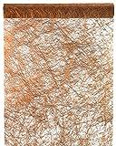 Chemin de table cuivre métallisé polyester non-tissé 30 cm x 5 m | Chemin de table | Décoration de table Noël | Anniversaire | Mariage