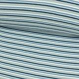 Bündchen Stoff Streifen jeansblau Ringelbündchen blau